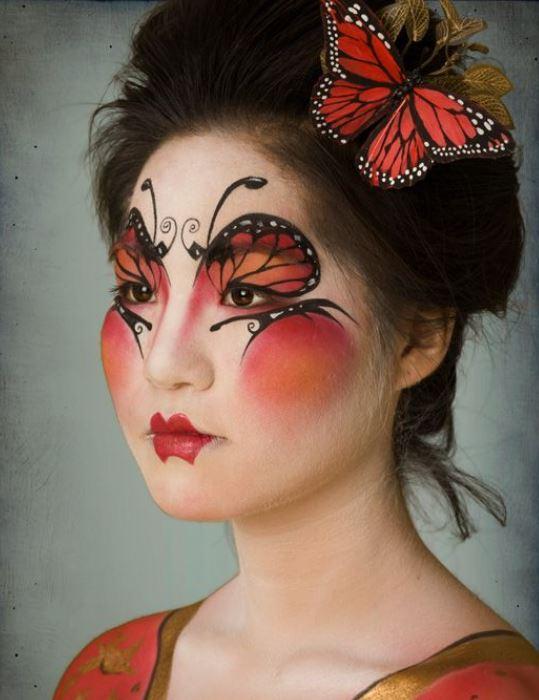 Trucco Carnevale da Geisha