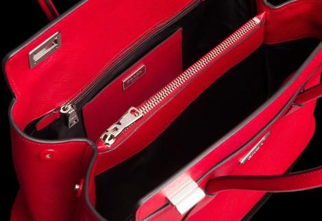 Dettagli Borsa Prada Twin bag 2014 Dettagli Borsa Prada Twin bag 2014 470x323 - Nuova borsa Prada collezione primavera estate 2014: Twin Bag