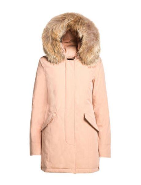 Byrd Arctic Parka slim fit Woolrich color rosa cipria inverno 2015 prezzo 799 euro