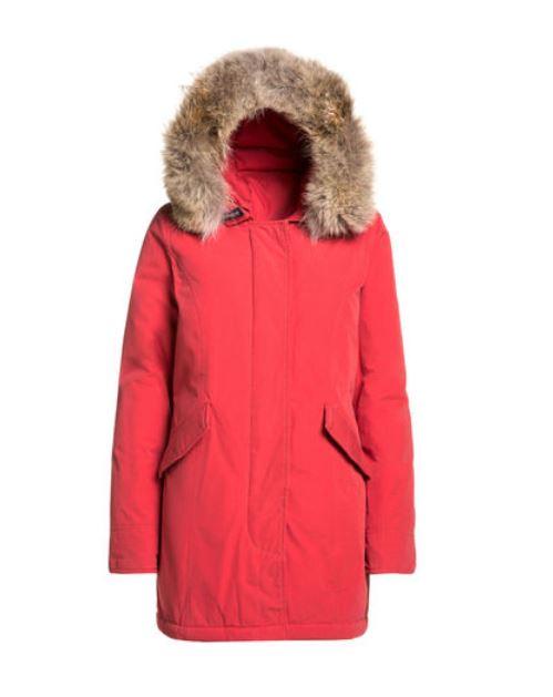 Byrd Arctic Parka slim fit Woolrich color rosa corallo inverno 2014 2015 prezzo 799 euro