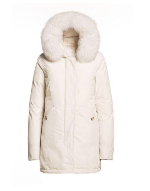 Luxury Arctic Parka Fox Woolrich Frozen white inverno 2015 prezzo 799 euro