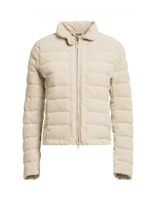 Piumino corto in alcantara Woolrich inverno 2014 2015 prezzo 499 euro
