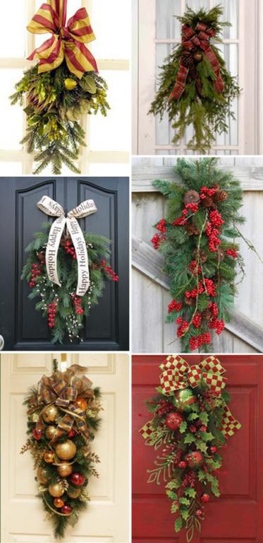 Addobbi natalizi da appendere alla porta fai da te the for Addobbi natalizi fai da te 2016