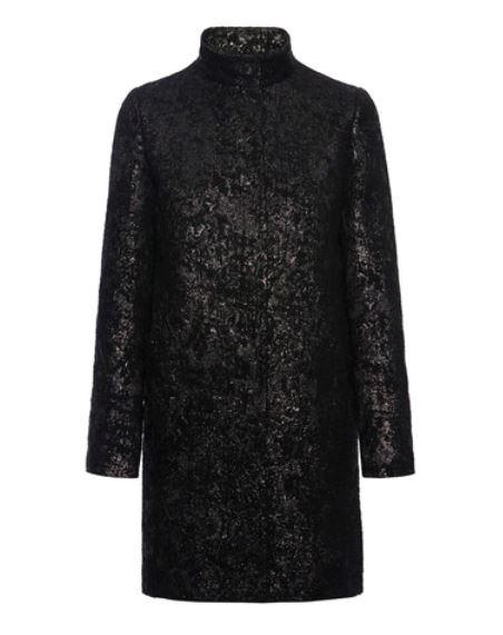 Cappotto da sera in jacquard Pennyblack inverno 2014 2015 prezzo 279 euro mod Apice