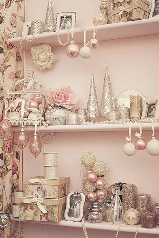 Colori decorazioni natalizie 2014 rosa pastello rosa antico e bianco the house of blog - Decorazioni bianche ...