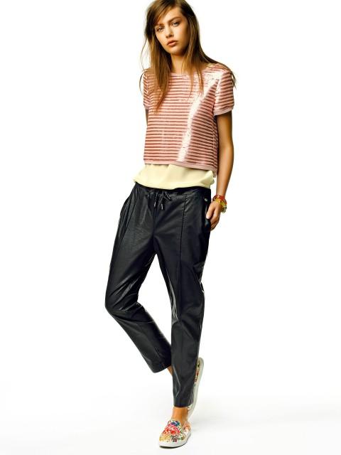 82b5ac866f733 Outfit con pantaloni Liu Jo pre collezione primavera estate 2015 Outfit con  pantaloni Liu Jo pre