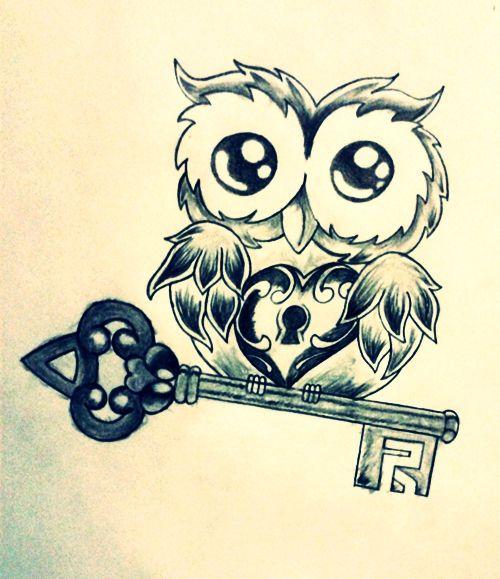 Preferenza Immagine per tatuaggio gufo con chiave e lucchetto - The house of blog PG33