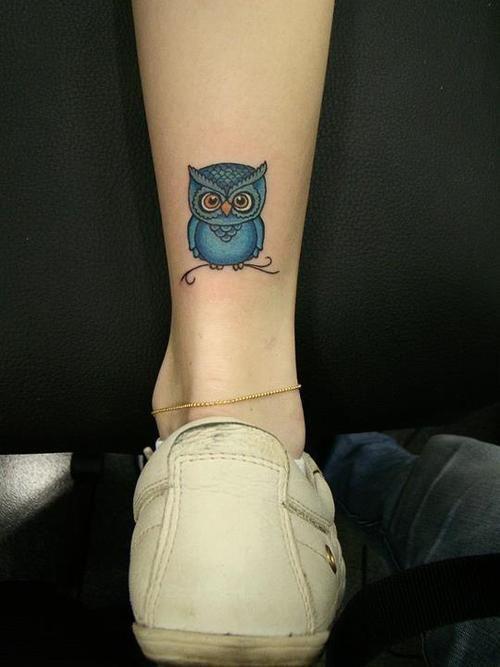 Popolare Piccolo tatuaggio Gufo sulla caviglia - The house of blog JG91