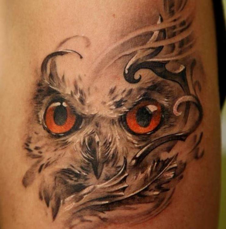 Popolare Tatuaggio faccia di un gufo - The house of blog MI39