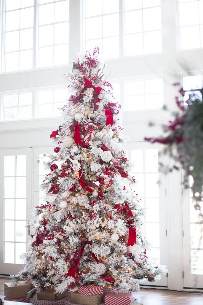 Albero di Natale 2015 bianco e rosso