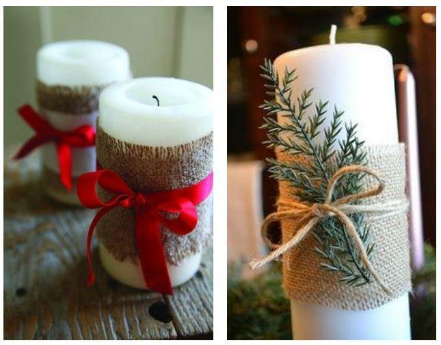 Preferenza Candele natalizie decorate fai da te - The house of blog FZ85