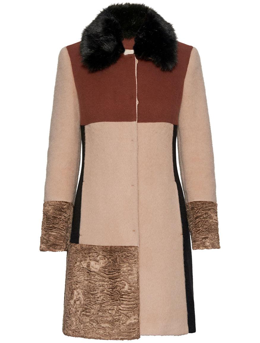 Cappotto in lana patchwork Pennyblack inverno 2015 2016 prezzo 289 euro