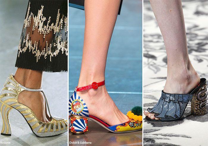 Sandali e Scarpe con tacchi scultura moda estate 2016 Sandali e Scarpe con  tacchi scultura moda 4bcb98ac858