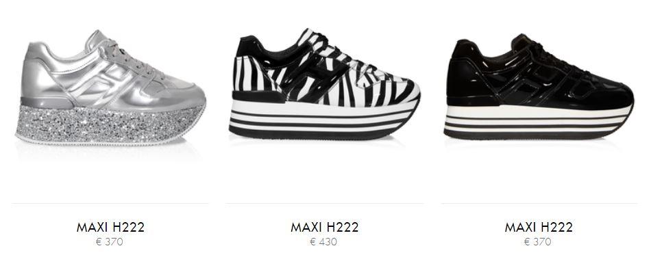 Nuove scarpe Hogan donna Maxi H222 con platform