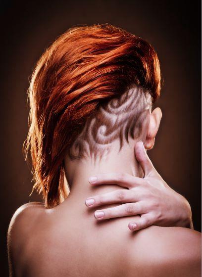 Conosciuto Taglio capelli donna rasati con disegno - The house of blog JB15