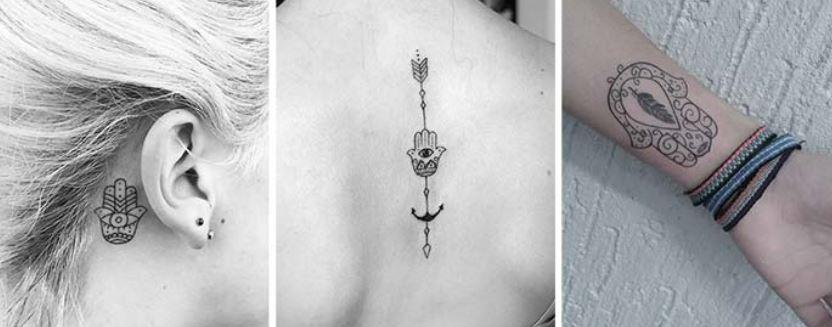 Top Piccoli tatuaggi HAMSA la mano di Dio - The house of blog WK57