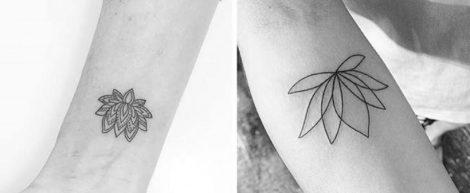 Tatuaggi fior di loto interno polso