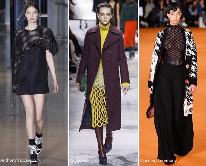 c23ebe08c1ef Tendenza Moda Abbigliamento Donna Inverno 2016 2017 Abiti e maglie in rete  Tendenza Moda Abbigliamento Donna