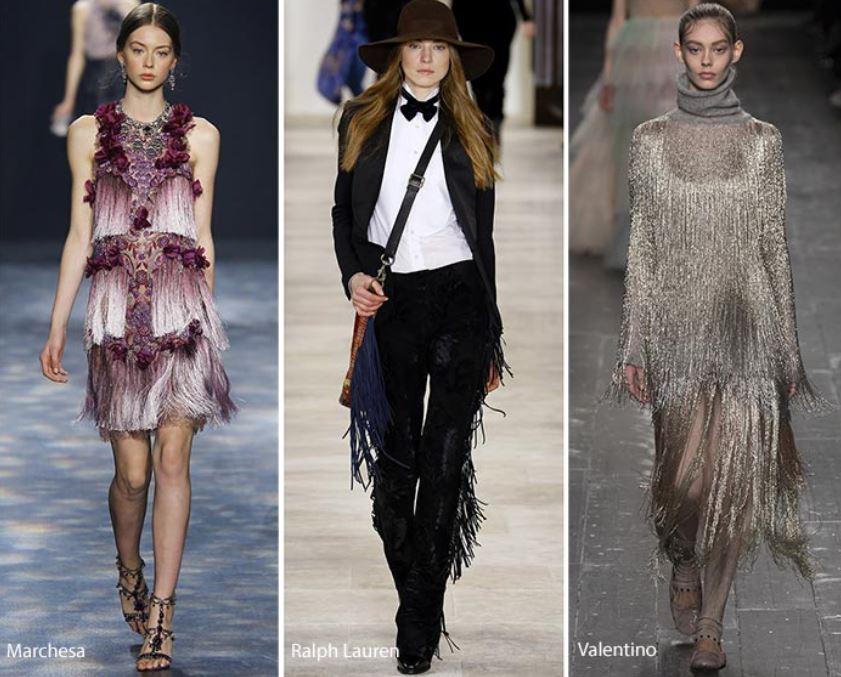 e7890ee4eee6 Tendenza Moda Abbigliamento Donna Inverno 2016 2017 Le Frange Tendenza Moda  Abbigliamento Donna Inverno 2016 2017