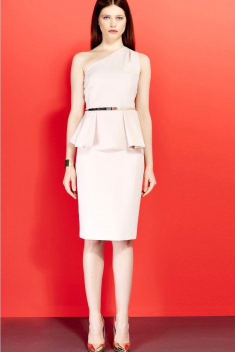 Peplum Dress monospalla Liu Jo inverno 2016 2017 prezzo 199 euro Peplum Dress monospalla Liu Jo inverno 2016 2017 prezzo 199 euro 470x704 - Abiti Liu Jo inverno 2016 2017: Catalogo Prezzi