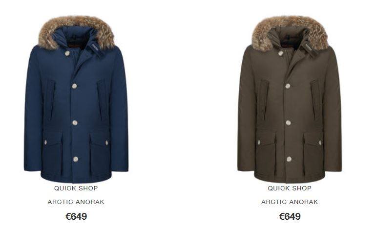 American Flag Arctic Parka Woolrich inverno 2016 2017 prezzo 799 euro Arctic Anorak Woolrich inverno 2016 2017 prezzo 649 euro - Arctic Anorak Woolrich inverno 2016 2017 prezzo 649 euro