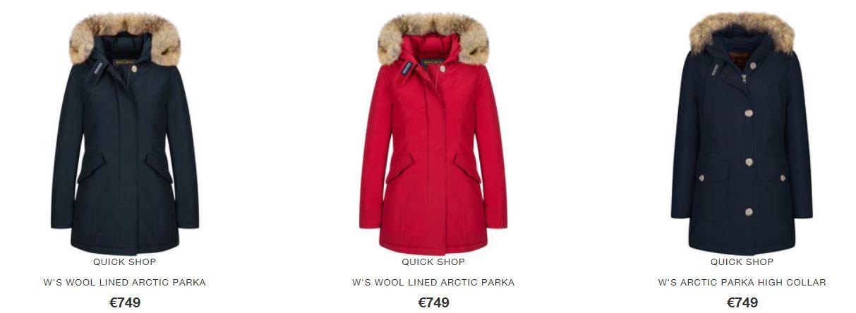 Arctic Parka Woolrich Donna Inverno 2016 2017