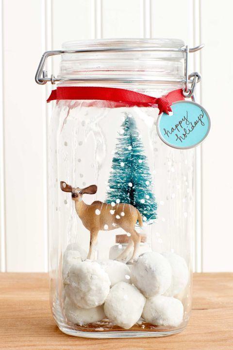 Barattolo di vetro decorato per natale the house of blog - Decorazioni natalizie in vetro ...