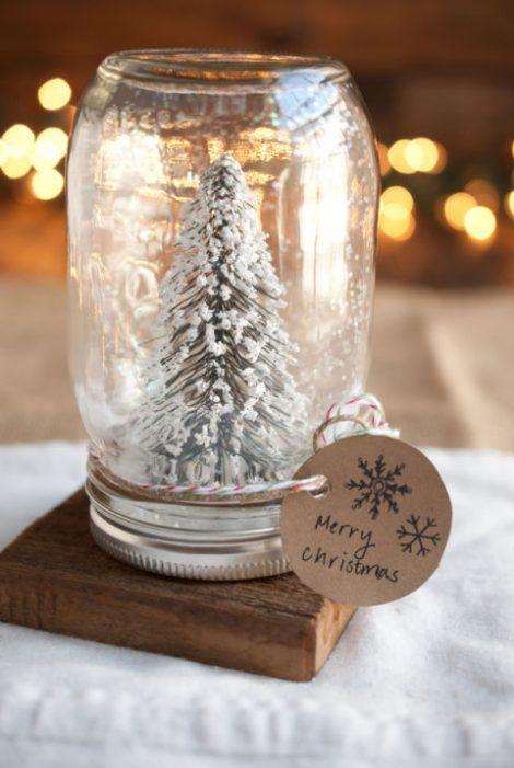 Barattolo di vetro natalizio fai da te Barattolo di vetro natalizio fai da te 470x701 - Decorazioni Natalizie 2017: Vasetti decorati per Natale Fai da Te