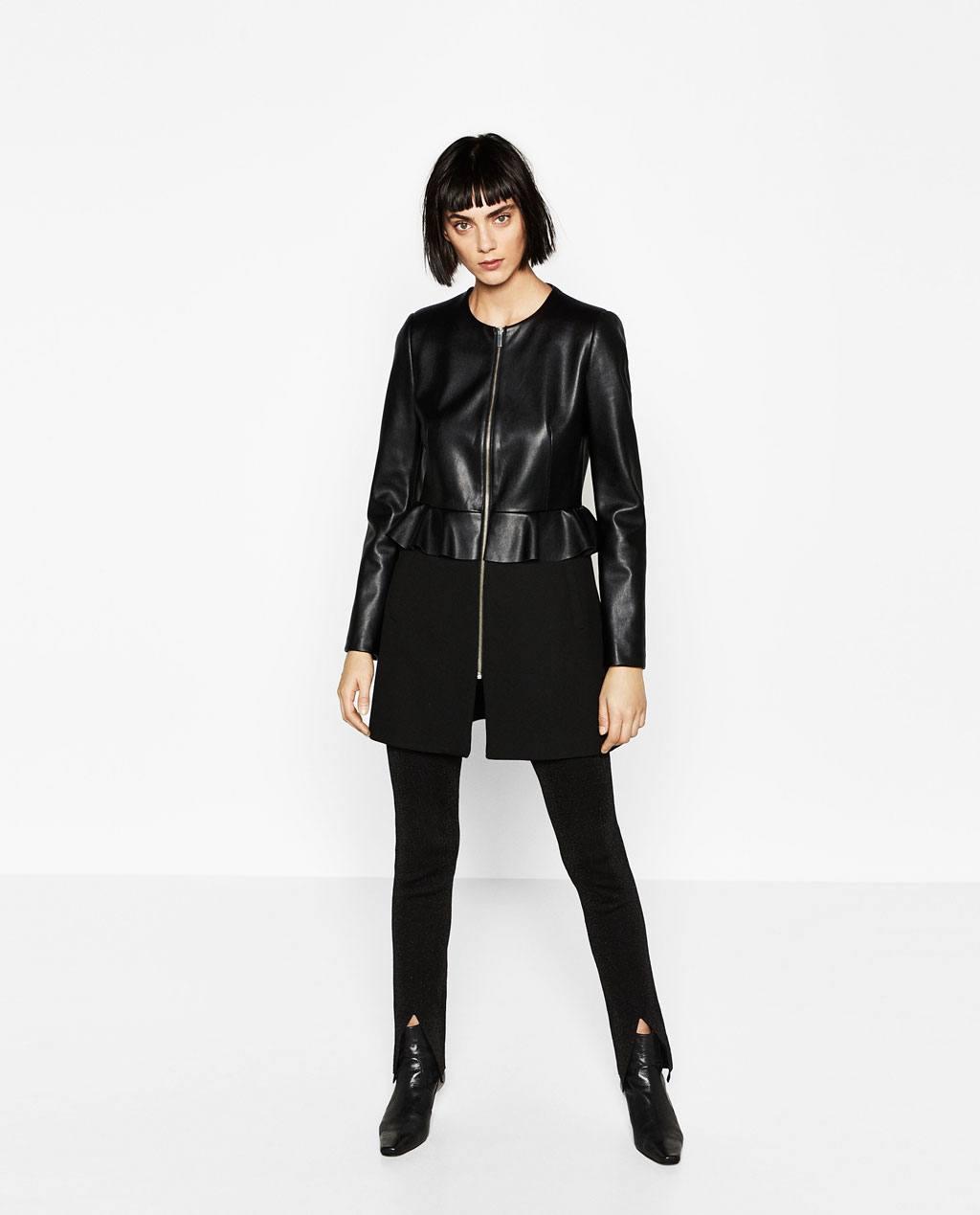 Cappottino con giacchino ecopelle ZARA inverno 2016 2017 prezzo 69 95 euro