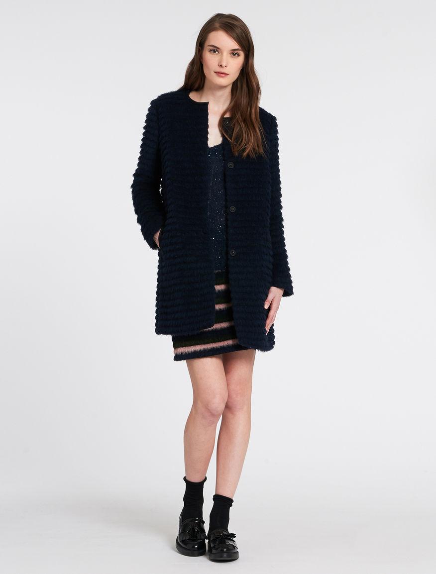 Cappotto a righe Pennyblack prezzo 259 euro
