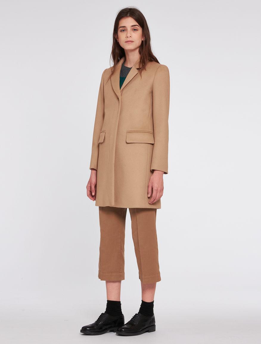 Cappotto cammello taglio slim Pennyblack inverno 2016 2017 prezzo 279 euro