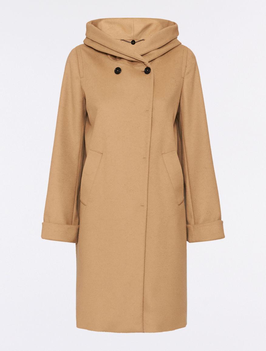 Cappotto color cammello lana e cashmere Pennyblack inverno 2016 2017 prezzo 299 euro