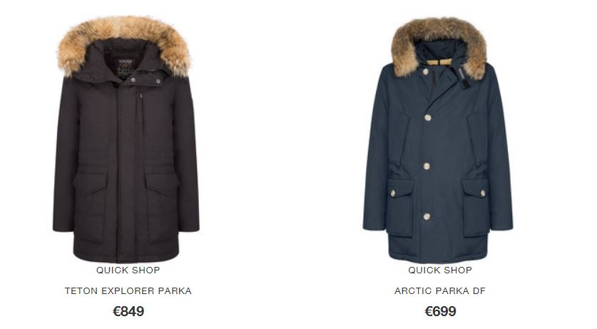 American Flag Arctic Parka Woolrich inverno 2016 2017 prezzo 799 euro Catalogo Parka Woolrich Uomo inverno 2017 - Catalogo Parka Woolrich Uomo inverno 2017