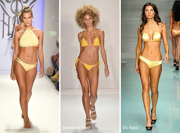 Colori Costumi Da Bagno : Moda costumi da bagno estate colore giallo the house of