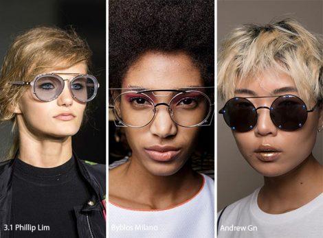 Occhiali da sole con ponte moda primavera estate 2017