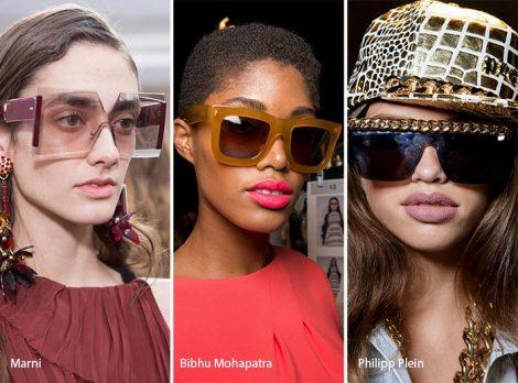 Occhiali da sole oversize moda primavera estate 2017