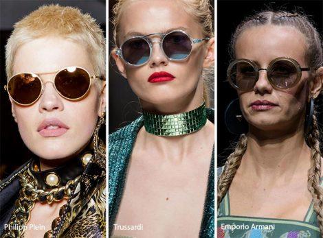 Occhiali da sole tondi moda primavera estate 2017
