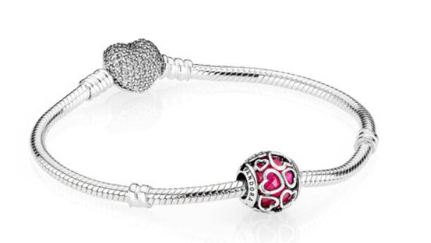 Bracciale Pandora Charm San Valentino Amore