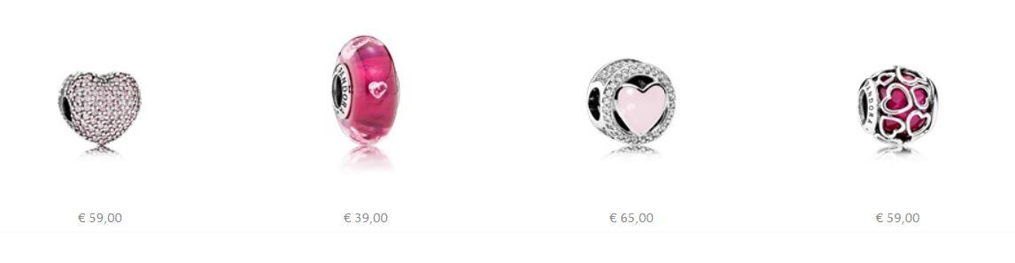 Charm Pandora simboli di Amore per San Valentino 2017