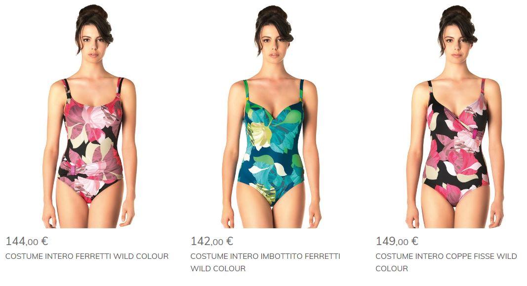 Costumi interi da signora wild colour parah the house of - Costumi da bagno interi 2017 ...