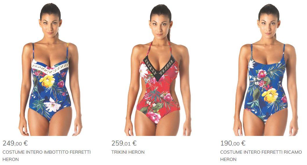 Costumi interi e trikini parah 2017 linea heron the - Costumi da bagno interi 2017 ...