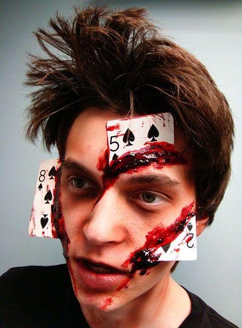 Idea originale di trucco viso uomo per Halloween e Carnevale