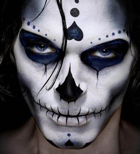 Make up Carnevale e Halloween uomo da teschio messicano