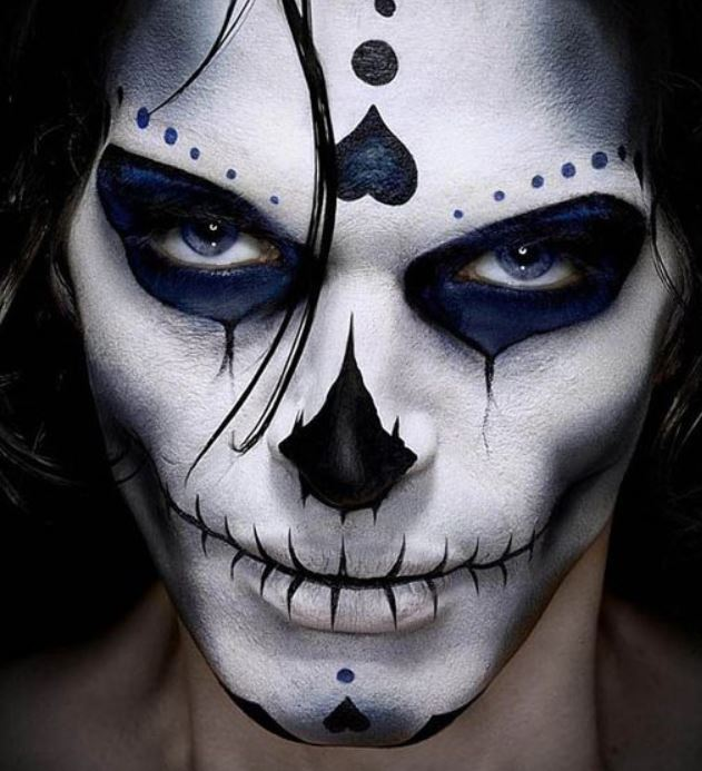 Make up Carnevale e Halloween uomo da teschio messicano Make up Carnevale e  Halloween uomo da