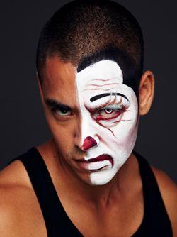 Make up uomo da mezzo clown per Carnevale