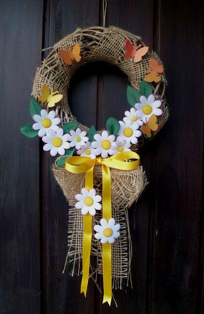 Ghirlanda primaverile da appendere alla porta the house - Ghirlanda porta ...