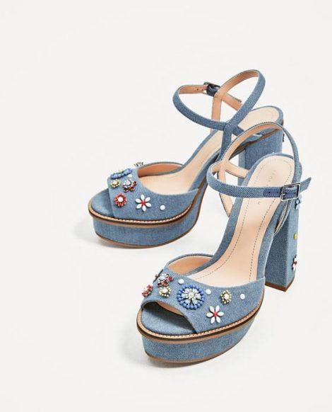 Sandali Zara in denim estate 2017 prezzo 69 95 euro Sandali Zara in denim estate 2017 prezzo 69 95 euro 470x582 - Scarpe e Sandali ZARA collezione primavera estate 2017