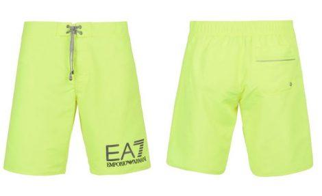 Armani Costume uomo boxer lungo a tinta unita con logo EA7 estate 2017