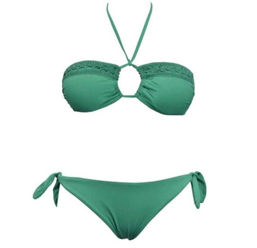 Bikini a fascia Verdissima collezione mare estate 2017