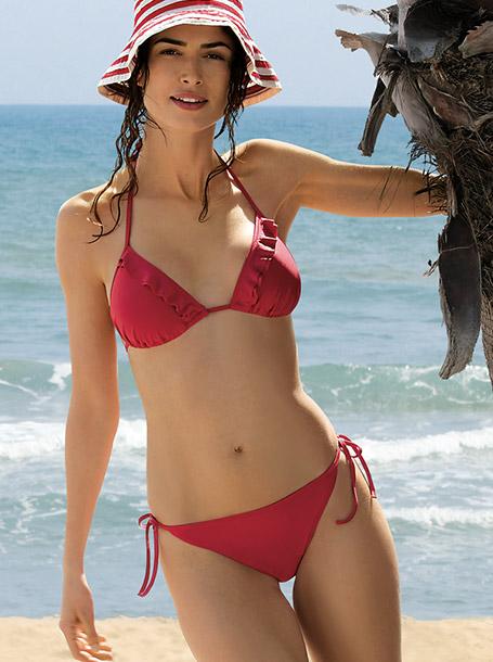 Bikini con reggiseno a triangolo e volant Lovable estate 2017